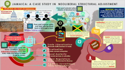 """Structural Adjustment Infographic: The Case of Jamaica (companion piece to """"Life and Debt"""" film assignment"""